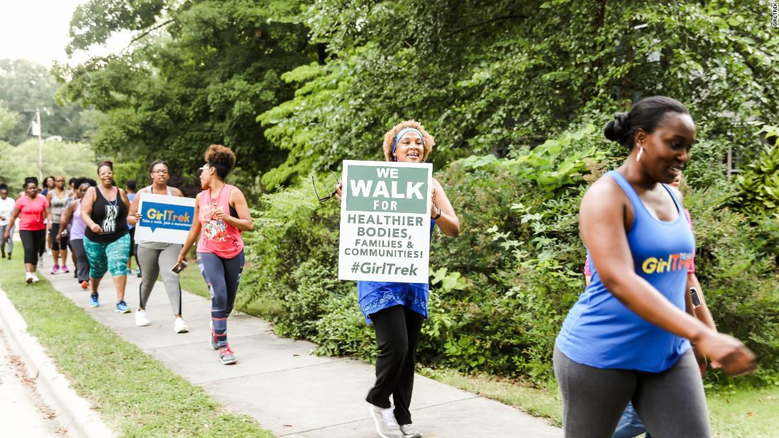 A GirlTrek walking team in Charlotte, North Carolina.