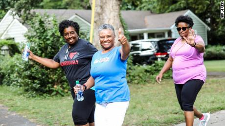 GilrTrek walkers in Charlotte, North Carolina want to present a healthy role model to their family and friends.