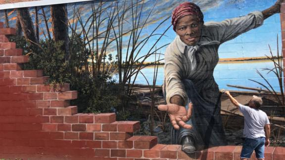 Artist Michael Rosato's mural at the Harriet Tubman Museum & Educational Center in Cambridge, Maryland.