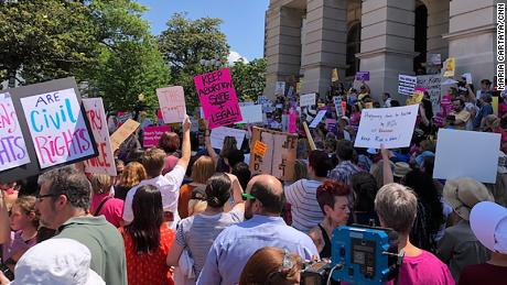 Abortion Law Protest Rally in Atlanta, GA