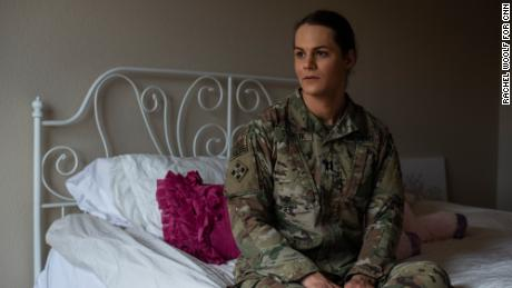 Army Capt. Alivia Stehlik, the physical therapist for the 1st Stryker Brigade Combat Team, hopes she can keep her job in the military.