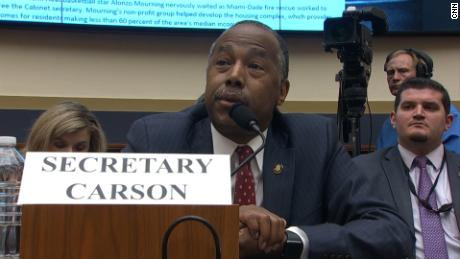 A lawmaker asked Carson about foreclosure characteristics. He believed she spoke of Oreos.