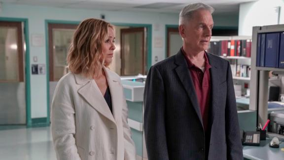 "In the season finale of ""NCIS,"" Gibbs (right) got a surprise visit. Also pictured, Maria Bello as agent Jacqueline ""Jack"" Sloane."