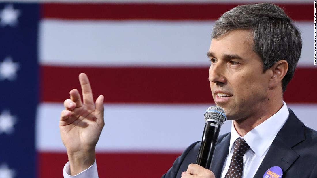 O'Rourke says Trump is provoking another war by sending more troops to Middle East