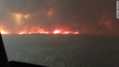 The Chuckegg Creek Wildfire in northern Alberta has burned nearly 200,000 acres, according to the Alberta government.