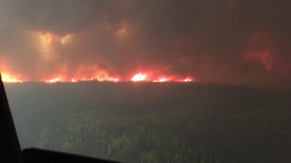 The Chuckegg Creek Wildfire, burning in Mackenzie County, in northern Alberta.