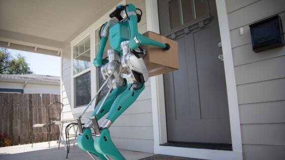 Ford and Agility Robotics explore how a new robot, Digit, can help get packages to your door efficiently with the help of self-driving vehicles.