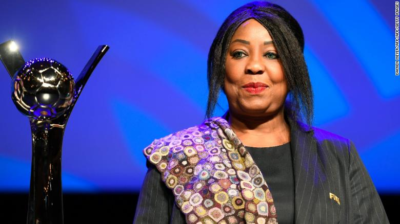 FIFA Secretary General Fatma Samoura is leading FIFA's fight against racism in football.