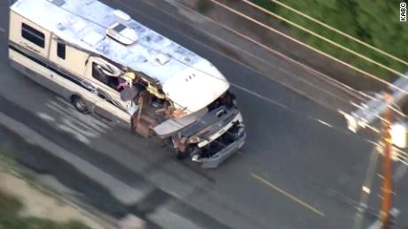 Stolen RV sets off violent car chase in California