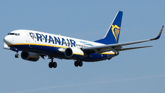 A Ryanair Boeing 737-800 aircraft lands at Barcelona's 'El Prat' airport on September 28, 2018. - Ryanair cancelled scores of European flights today as unions staged what they warned could be the biggest strike in the airline's history.The Dublin-based low-cost carrier has played down fears of widespread disruption but confirmed it would cancel nearly 250 flights. (Photo by PAU BARRENA / AFP)        (Photo credit should read PAU BARRENA/AFP/Getty Images)