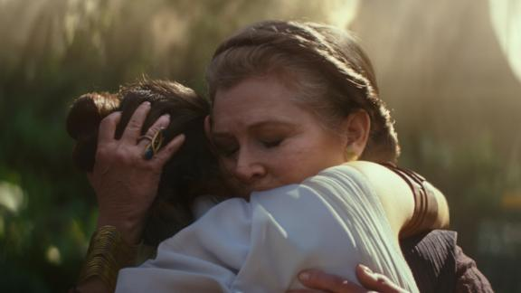 Carrie Fisher and Daisy Ridley in