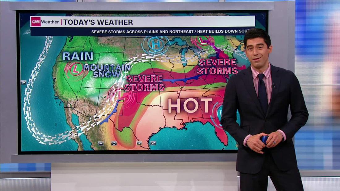 Severe Weather And Flash Floods Slam Central Us Cnn Video - Us-live-weather-map
