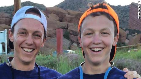 Dylan Roberts (left) with his brother, Murphy.