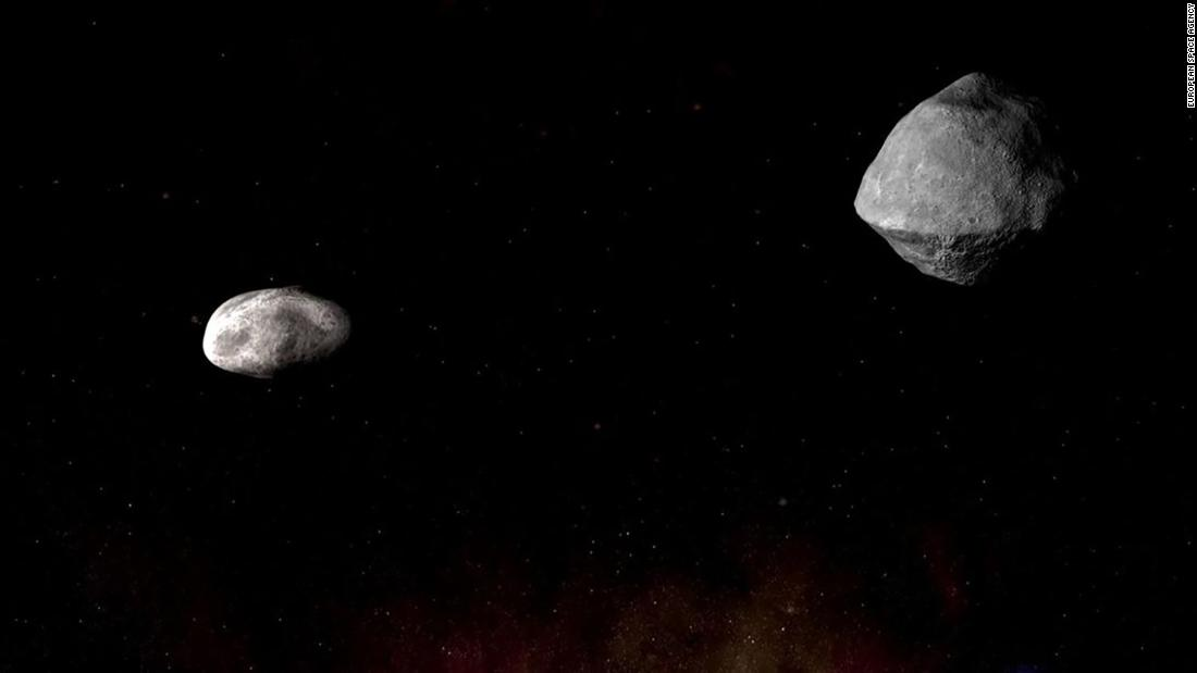 A mile-wide asteroid with its own mini moon will swing close (but not too close) to Earth this weekend