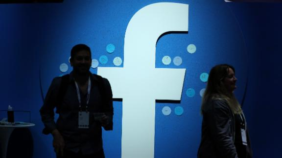 SAN JOSE, CALIFORNIA - APRIL 30: The Facebook logo is displayed during the F8 Facebook Developers conference on April 30, 2019 in San Jose, California. Facebook CEO Mark Zuckerberg delivered the opening keynote to the FB Developer conference that runs through May 1. (Photo by Justin Sullivan/Getty Images)