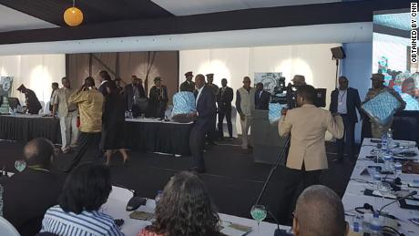Regional leaders received the gifts at a May 6 summit in Kasane