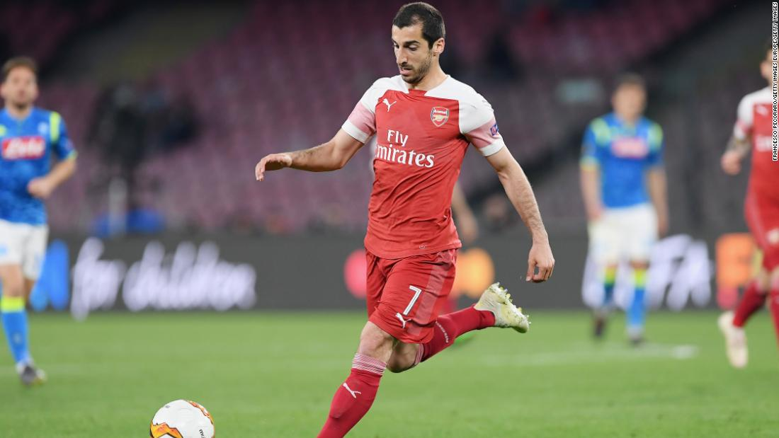 """Mkhitaryan has tweeted that to miss the final against Chelsea """"hurt a lot."""""""