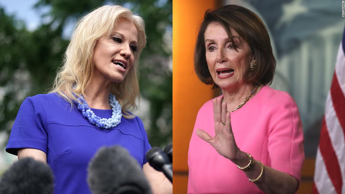 Pelosi and Conway have testy exchange at White House