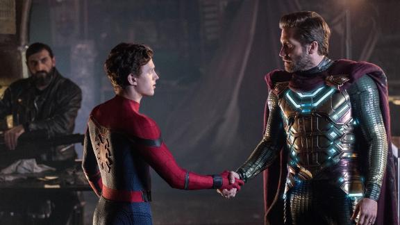 """(July 2) -- It's summer, so obviously another superhero film is coming your way. Marvel Studios' sequel to """"Spider-Man: Homecoming"""" picks up where """"Avengers: Endgame"""" leaves off, with Peter Parker (Tom Holland) mourning the death of his mentor, Tony Stark. But during a trip to Europe with his buddies, he gets an offer to team up with Quentin Beck """"Mysterio,"""" played by Jake Glyyenhaal. The film also stars Samuel L. Jackson, Zendaya, Cobie Smulders, Jon Favreau and Marisa Tomei. <br />"""