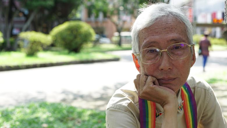 LGBT rights activist Chi Chia-Wei in Taiwan on Thursday, the day before same-sex marriage becomes legal on the island