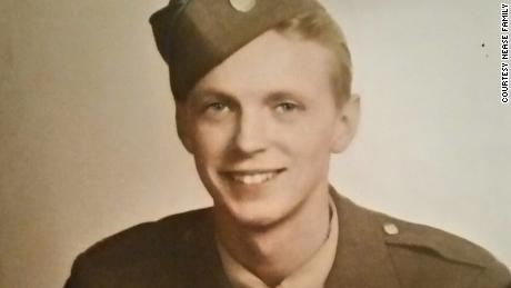 Private Charlie Nease, in his 45th Infantry Division uniform.