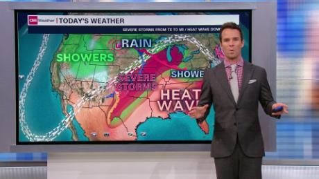 Memorial Day weekend heat wave and severe weather threat