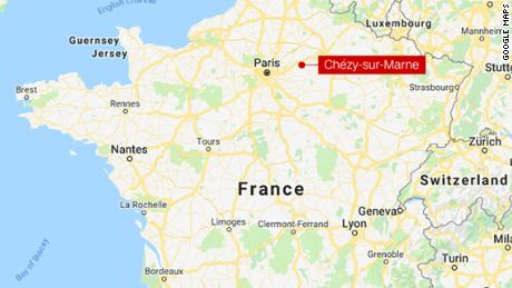 The victim was found dead Saturday morning in Chézy-sur-Marne, northern France.