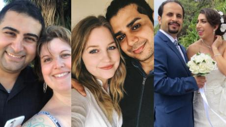 Separated from travel ban no, these couples are filming videos to plead their case