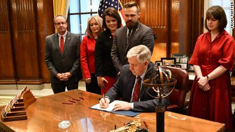Missouri's Gov. Mike Parson, on Friday signed into law a strict anti-abortion bill that prohibits abortions after eight weeks of pregnancy.