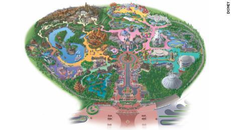Disney Land Map on