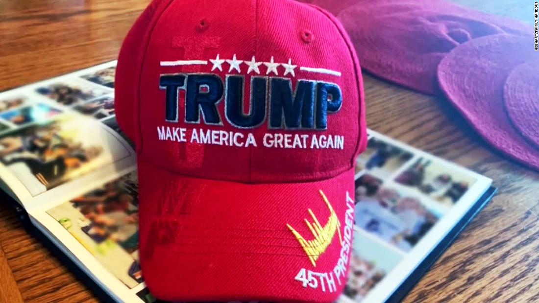 A 16-year-old's MAGA hat was blurred out of his high school yearbook