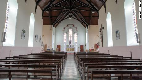 The Church of Our Lady, Star of the Sea, and St. Patrick in Goleen, where Pierre Louis Baudey Vignaud, appealed to local witnesses to travel to Paris to testify at the trial.