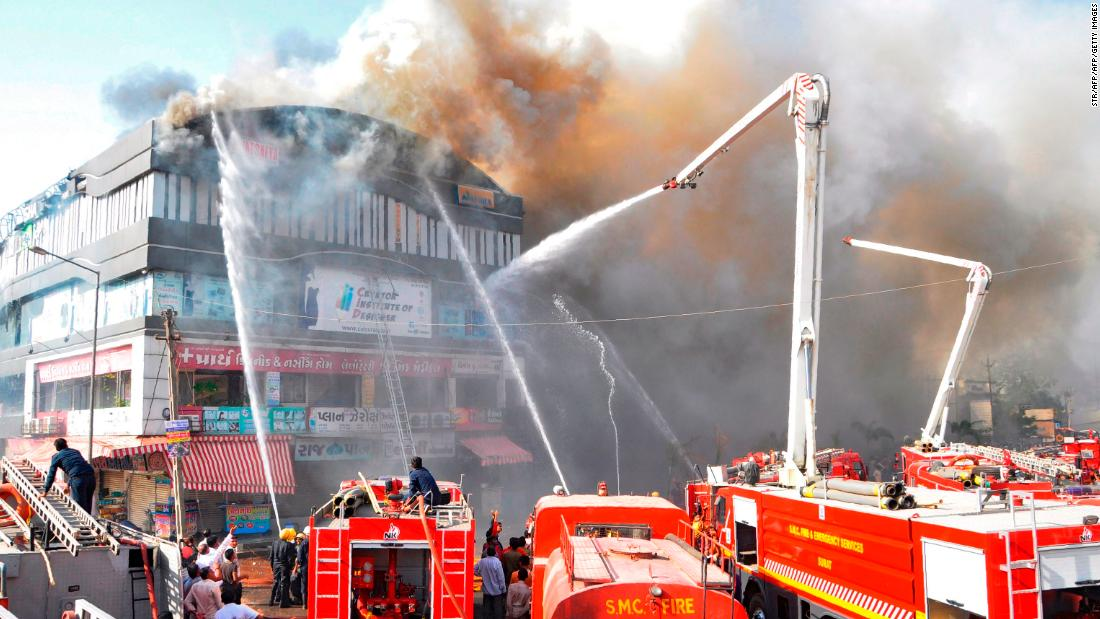 20 students killed in Surat tutoring center fire