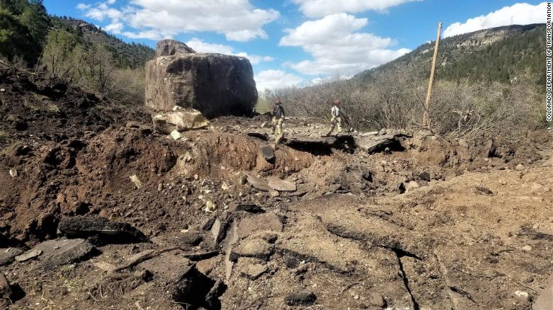 Two GIANT boulders the size of a building destroy Colorado highway  190525112344-03-co-boulder-exlarge-169