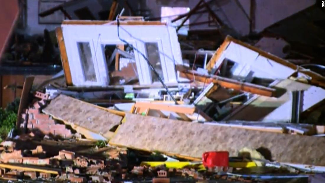 Two dead after a possible tornado touched down in Oklahoma