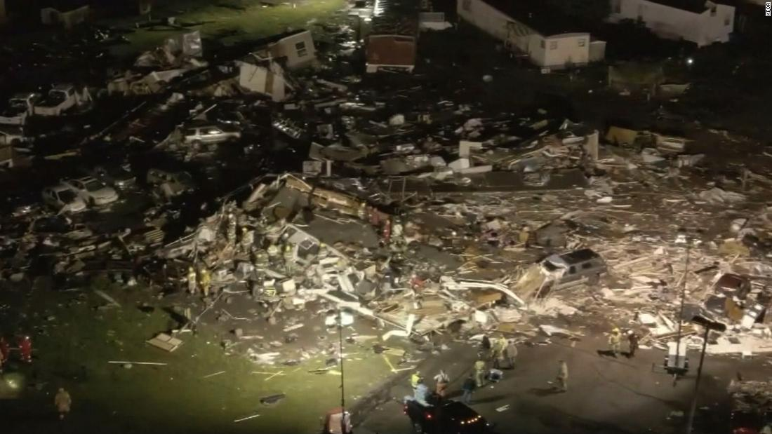 Two dead after a possible tornado touches down in Oklahoma