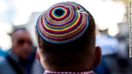 "A German official said Jews are not advised to wear a kippah ""everywhere all the time in Germany."""