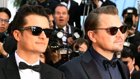 "CANNES, FRANCE - MAY 23: Orlando Bloom and Leonardo DiCaprio attend the screening of the World Premiere of the Formula E documentary ""And We Go Green"" during the 72nd annual Cannes Film Festival on May 23, 2019 in Cannes, France. (Photo by Matt Winkelmeyer/Getty Images)"