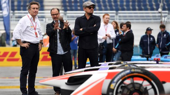 Di Caprio is not only a fan of the emerging sport but he also co-founded Formula E team Venturi in 2013.