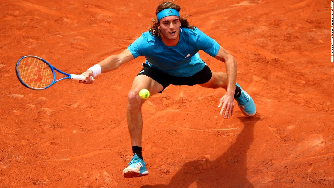 Greece's Stefanos Tsitsipas, having a breakout 2019 campaign, advanced in straight sets. Tsitsipas beat King of Clay Rafael Nadal recently in Madrid.