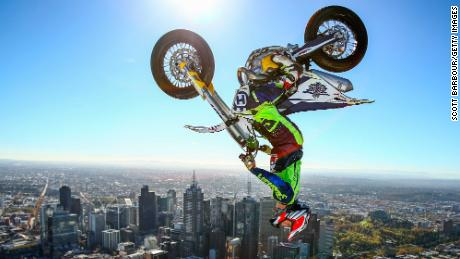 Note from Kyle: This was more of a promotional stunt for the AUS-X Open, but still cool and sports-related i think.