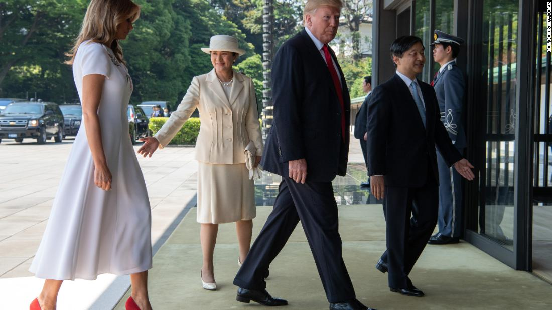 Trump meets Japanese Emperor as he begins business portion of state visit