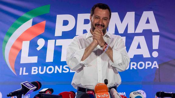 Italy's Deputy Prime Minister and leader of right-wing Lega (League) political party Matteo Salvini.