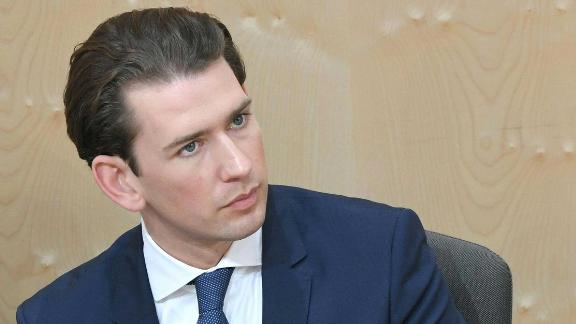 Austria's Chancellor Sebastian Kurz attends a special session of the parliament focusing on a no-confidence vote against him on May 27, 2019 in Vienna. - Austrian Chancellor Sebastian Kurz is set to lose his post after the far-right closed ranks with other opposition parties, saying they would support a no-confidence motion against him. (Photo by ROLAND SCHLAGER / APA / AFP) / Austria OUT        (Photo credit should read ROLAND SCHLAGER/AFP/Getty Images)
