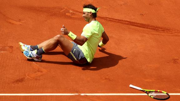 He slipped at one stage but picked himself up and looked in commanding form in the straight-set victory.