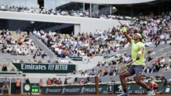Rafael Nadal, the 11-time tournament winner, began his tournament by facing Germany's Yannick Hanfmann.