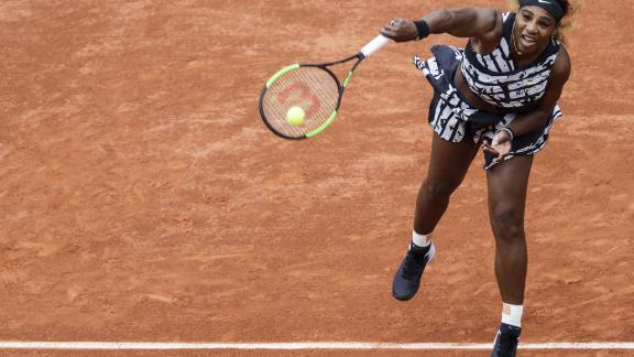 But helped by her serve, Williams then cruised. She is bidding for a record-tying 24th grand slam title.