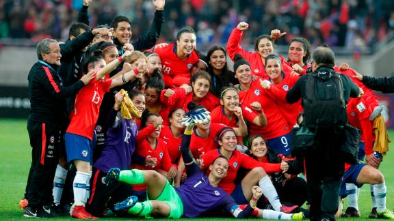 Chile celebrates qualification to its first ever Women
