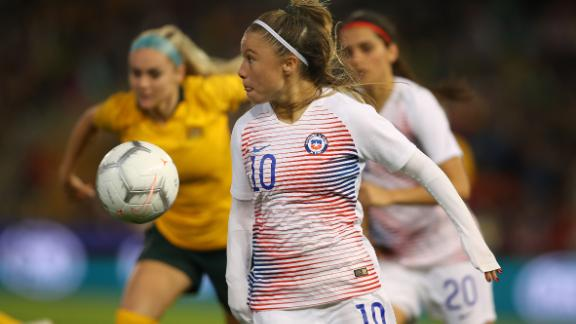 Chile forward Yanara Aedo during last year