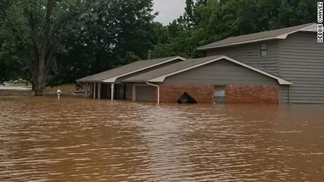 Flooding in Sand Springs, Oklahoma.